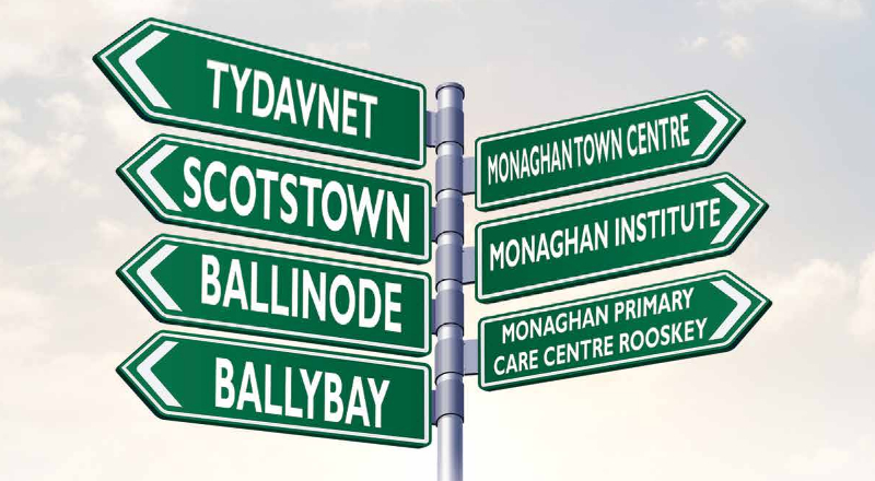 Local Link Monaghan Town Service Signpost Image