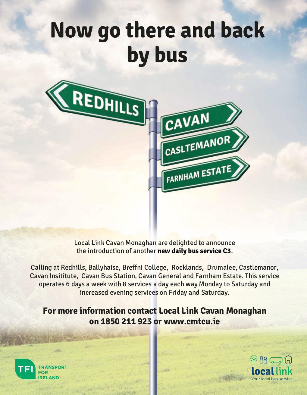 Redhills C3 Bus Route Poster