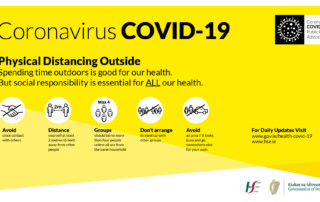 COVID-19 Physical Distancing Outside Screen