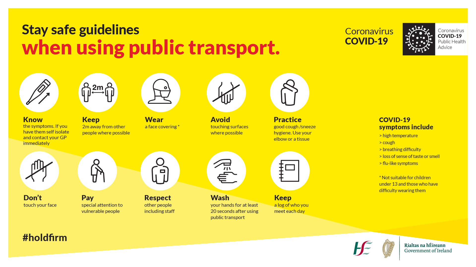 HSE Public Transport Covid-19 guidelines