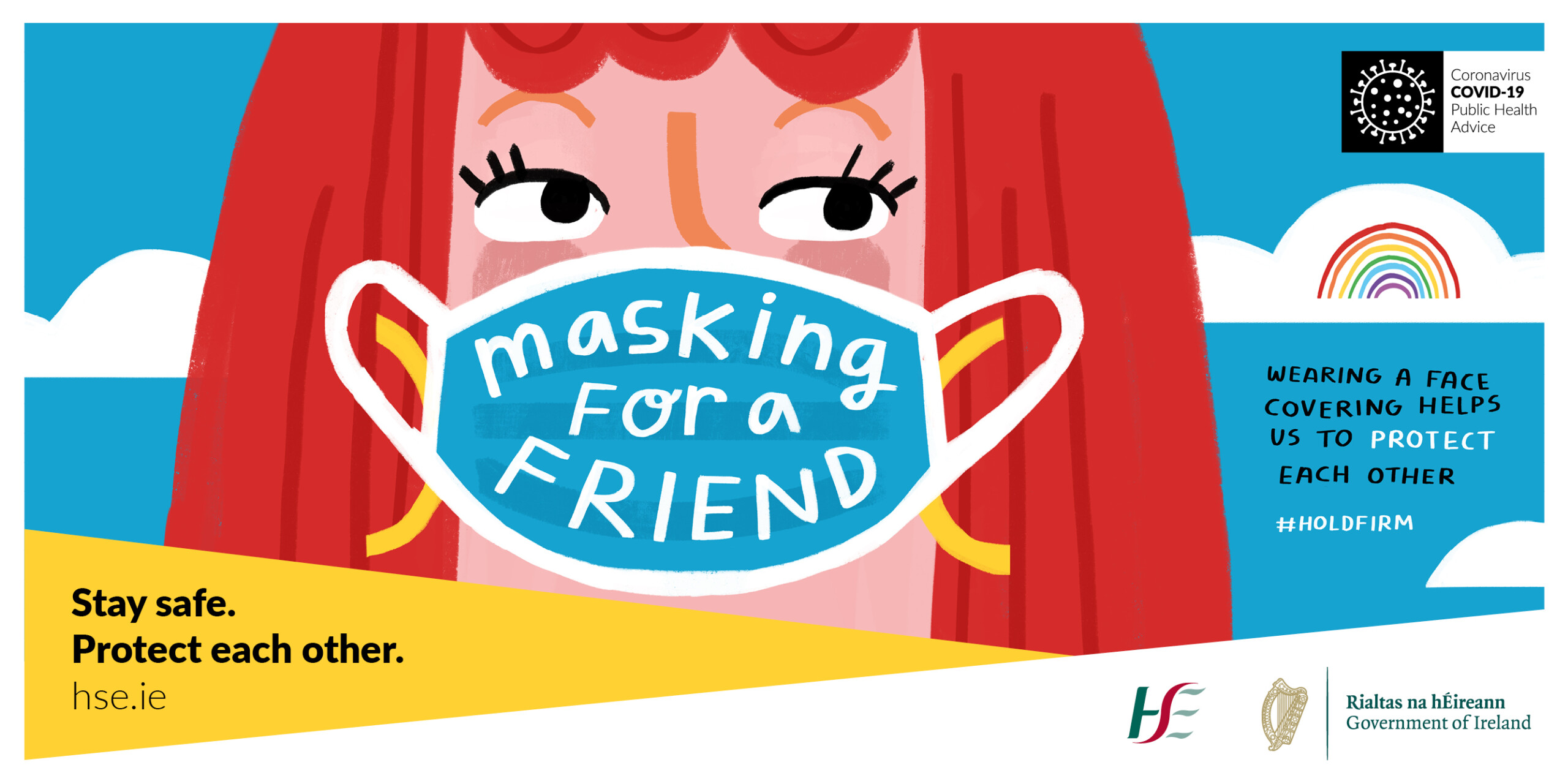 Masking for a friend HSE poster
