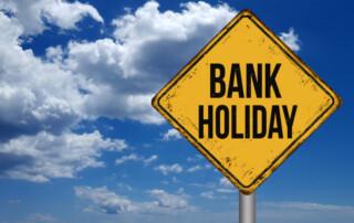 bank holiday road sign